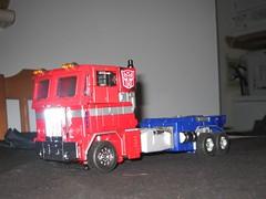 Optimus prime en  camión
