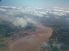 West River in PEI (pacres) Tags: river mud arial