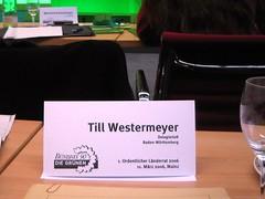 Länderrat Mainz: das Namensschild