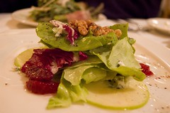 Salad Course: Apple-Roquefort
