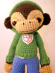 bj5 (ElisabethD) Tags: cute monkey stuffed doll softie amigurumi crocheted gourmetamigurumi