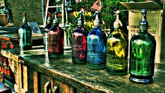 seven bottles of santiago (iammikeb) Tags: arizona crossprocessed widescreen 169 hdr prescott mikeb 3xp hdart