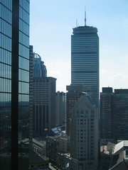 Prudential center in Boston harbor