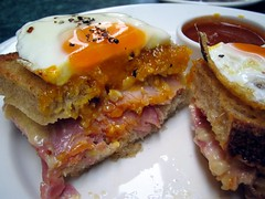 Croque Madame at Green Grocer (Wodetzki) Tags: food breakfast blog egg melbourne ham croque