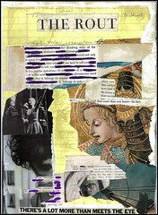 The Rout of Rapid Shallow Respiration (Visual-Text Poem ii.) (DerrickT) Tags: art collage artwork poetry artistic cut mixedmedia paste glue scissors precision dada visualpoetry ripping gluing shredding cutnpaste eliminateandallow therout