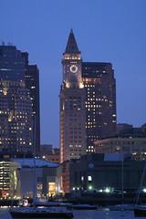 Customs House Tower (Asten) Tags: building tower boston night customhouse customhousetower