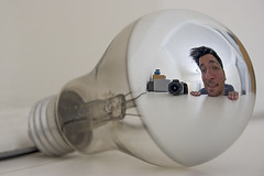 Weirdo (bikeracer) Tags: selfportrait reflection me lightbulb wow interestingness topf75 notes distorted topv1111 mirrored weirdo aprticket interestingness16 i500 explore19aug05