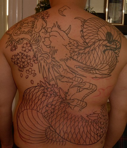 Scary Dragon Tattoo in fat bodies