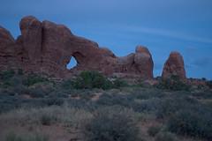 A Window (Giant Ginkgo) Tags: utah moab arches archesnationalpark nationalpark nps dusk evening light study sky clouds arch sandstone