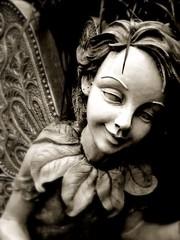Elf Girl (Beau Vincent) Tags: fallout75 sanantonio elf pixie bw sepia blackwhite tinted statue