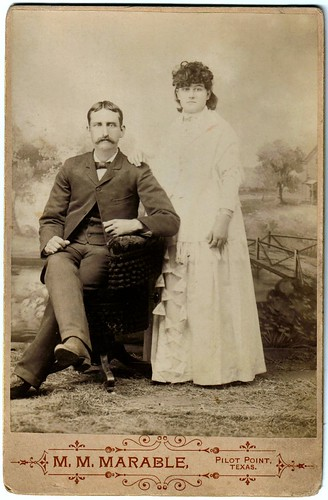 1891 Pilot Point, TX  John Thomas Elsasser and bride Ollie Francis Campbell