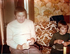 Playing Pong with my dad (benster1970) Tags: pong videogame oldphoto seventies scan