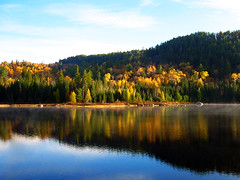A color....ful Lake Sorcier (Imapix) Tags: voyage travel lake canada fall nature topf25 colors automne wow wonder photo topv333 october colorful photographie 500v20f natural quebec couleurs gutentag qubec favourites favs multicolor imapix mastigouche favpix topfavpix gatangbourque gatanbourque copyright2006gatanbourqueallrightsreserved  copyright2006gatanbourqueallrightsreserved pix50 imapixphotography gatanbourquephotography