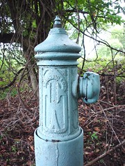 I.S.Cassin & Co. Hydrant (Porky Jupp) Tags: old blue hydrant pennsylvania firehydrant norristown iscassin cassin