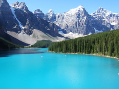 Moraine Lake & the Ten Peaks (YellowPonny) Tags: canada alberta banffnationalpark morainelake banff 20050818