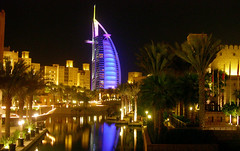 Burj Al Arab (Curlylocks) Tags: burjalarab dubai unitedarabemirates night light madinatjumeirah architecture reflection landscape burj 500plus interestingness wow uae emirates 4300 topf25 mybest 1000plus delete save delete1 delete2 save2 save3 delete3 delete4 delete5 delete6 delete7 delete8 save4 delete9 delete10