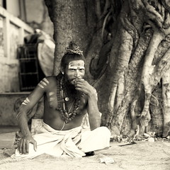Everyone in India enjoys a good cup of tea (... Arjun) Tags: travel portrait blackandwhite bw 15fav india cup monochrome sepia 1025fav rural 510fav temple sketch blackwhite asia god tea smoke picture monotone 100v10f study photograph enjoy enjoys everyone tribe matches pali pushkar 2009 tobacco f4 description representation mystic rajasthan sanskrit sadhu portrayal 555 beedi likeness 105mm depiction canonef24105mmf4lis brahmatemple visualrendering bluelist iso2000 saadhu godman sanyasi indiancigarette canoneos5dmarkii asetic sdhu  canon5dmarkii
