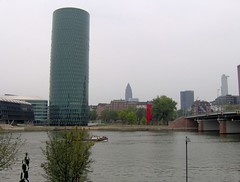Westhafen Tower, Messeturm (captainbums) Tags: frankfurt main westhafen tower messeturm