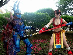 "Soul Calibur II . . . ""the sterilizer"" (orgXIIIorg) Tags: 2005 costumes anime costume fight cosplay central soul handpainted convention nightmare costuming props throw weapons acen soulcalibur calibur yui animecentral soulcalibur2 souledge seungmina"