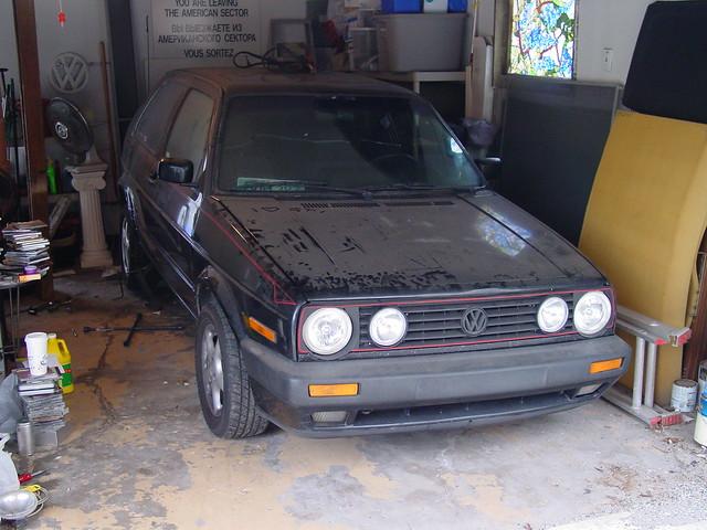 black golf vw gti mkii volkswagen angeleyes eurogrill vwalloys garage checkpointcharlie sacredgtiburialground