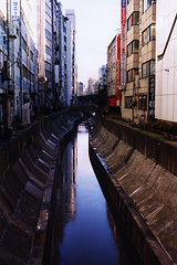 Polluted Shibuya waterway (Lil [Kristen Elsby]) Tags: reflection water japan concrete tokyo canal topf50 asia stream shibuya pollution   topv4444 waterway polluted eastasia  afterhatakeyama