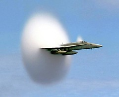 Seeing a Sonic Boom - How often? (edhiker) Tags: fighter aircraft wave shock sonicboom hornet connie f18 10000 squadron cv64 ussconstellation fa18 soundbarrier edhiker ussconstellationcv64 breakingsoundbarrier squadrononefiveone onefiveone best100