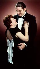 Liana Looks Up (Glenn Loos-Austin) Tags: junkchest husband wife glenn liana tuxedo gown eveninggown back sexy tall short couples romantic formal groupportraits me glennloosaustin selfportrait