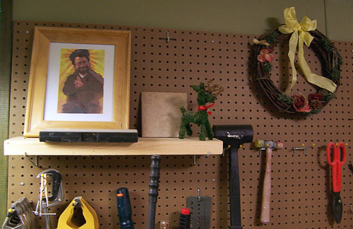 new shrine basement icon workshop yankee woodworking norm religiousicon pegboard newyankeeworkshop