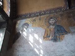 Byzantine mosaic in the Hagia Sophia (birdfarm) Tags: mosaic turkey türkiye byzantine byzantium hagiasophia İstanbul istanbul badge