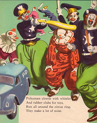 Wonder Book Of Clowns (glumpire) Tags: wonderbooks vintage clowns illustration