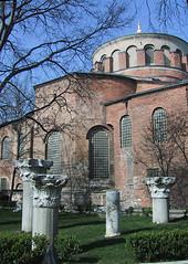 Hagia Eirene, Istanbul, Turkey (birdfarm) Tags: hagiaeirene greekcolumn turkey türkiye byzantine byzantium greek İstanbul istanbul badge