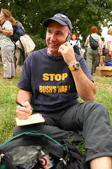59.UFJP.Before.WDC.24sep05 (Elvert Barnes) Tags: ufpj unitedforpeaceandjustice bringthetroopshome wdc protest 24september2005 cellphone hands arms crotch crotchshot stopbushswar