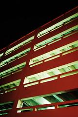 k parks her dream car (helveticaneue) Tags: 2005 red green philadelphia night chinatown parkinggarage walk september alamy alamylead