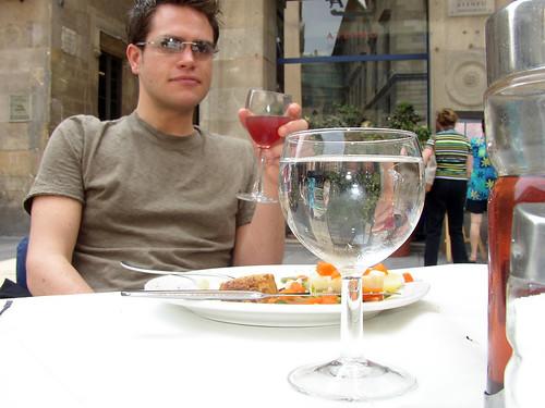 Enjoying Sangria In Barcelona