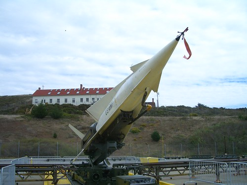 Nike missile rising for launch