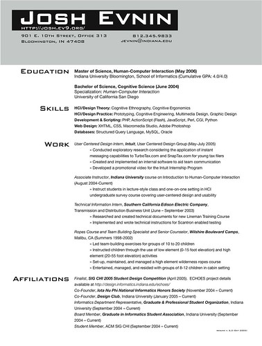 Grad school application cv resume