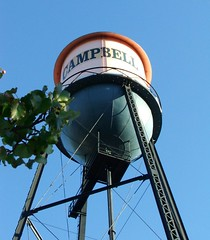 water tower, Downtown Campbell, California, Oc...