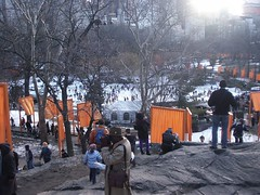 nyc_010 (madmaharaja) Tags: centralpark christo newyork gates orange gatesmemory art saffron newyorkcity nyc travel usa winter