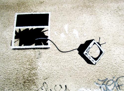 tv window stencil