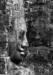Portrait and Profile: Bayon (mboogiedown) Tags: travel portrait blackandwhite sculpture monument face stone asian temple asia cambodia cambodian khmer profile culture buddhism angkorwat unesco historical southeast tradition angkor wat hinduism archeology cultural worldheritage bayon angkorthom kampuchea mapcambodia cambogia theravada travelforpeace camboge beatravelernotatourist dontjustseetheworldexperienceit experiencecambodia buddhistnations