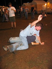 silly boys (Sarah and Jason) Tags: 2005 jason beer casey october durham mud northcarolina ground beerfest bysarah jefft worldbeerfestival