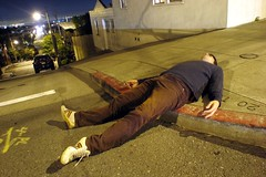 Tequilla (aqui-ali) Tags: sanfrancisco california ca light usa selfportrait me night eu sidewalk aquiali potrero gap099 aquiali:a=1
