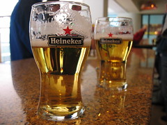 Beer at the Heineken Brewery