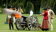 Rebels Firing Cannon / ca. 1776 (Jim Frazier) Tags: 2005 orange history gardens garden fire illinois cool october war gun v100 gardening military smoke great dupage f10 boom flame revolution cannon soldiers historical shooting revolutionarywar f3 americanrevolution f5 printed mylife 1776 weapons reenactors wheaton magicmoment cantigny f15 v200 v500 q5 v1000 v5000 northwestterritoryalliance calendar2006 v2000 explored interestingness275 printportfolio stblog trf17751783 jimubs printed11x14 nogardenblog adifferentpersona wmembed