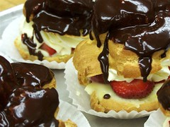 Cream Puffs - Pate A Choux (Amber *) Tags: mine flickr chocolate cream puff favorites strawberries delicious cocoa puffpastry choux pate whipped favd themechocolate a picsflickrmemberscommentedon thecommentaryset picsflickrmembershaveaddedtotheirfavorites yourfavdset sweeetlifeset elcaire foodiespix