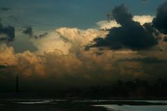 Sunset over the Yamuna River