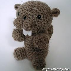 beaver 2 front 2 (Roxycraft) Tags: amigurumi softies plush mos crochet handmade