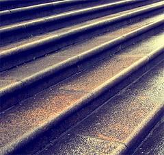 escaleras, piedra, lluvia por Fotógrafo Accidental