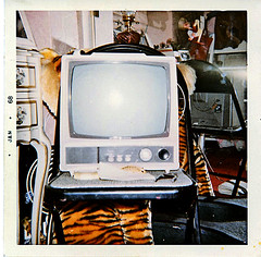 Portable Black and White TV (1968) (musicmuse_ca) Tags: family television 1025fav 510fav wow tv 2550fav 1968 myroom idontgetwhysomanyfolkslikethisbutthenwhatdoiknow