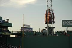 DSC_0143 (wchien) Tags: boston massachusetts fenwaypark greenmonster cokebottles sunset unitedstatesofamerica baseball